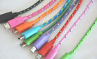 Lot ROUND BRAIDED 6FT fabric charge cables FOR galaxy s3 s4 MICRO USB data sync