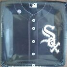 """Chicago Cubs White Sox Jersey Style Paper Baseball MLB 10"""" Plates 18ct BRAND NEW"""