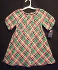 Cherokee Flannel Tartan Checked Toddler Girls Dress Holiday Special Occasion NEW