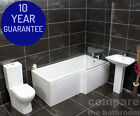 Moselle Designer L Shape Showerbath Bathroom Suite With Tap Choices Right Hand
