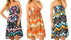 NWT Women Rayon Strapless Asymmetrical Hem Summer/Beach Dress/Sundress