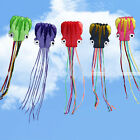 New 5 Colors Outdoor Sports 6M Octopus Soft Kite Beginner +30m Fly line Handle