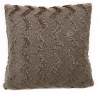fd04a Khaki Soft Fleece Zig Zag Wave Cushion Cover/Pillow Case Custom Size