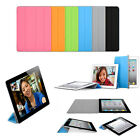 Ultra Thin Magnetic Smart Case Cover + Back Case Fr Apple iPad 3 iPad 2 New iPad