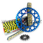 Yamaha YZ250F YZF250 2001-2015 Regina RX3 Chain And Renthal Sprocket Kit Blue