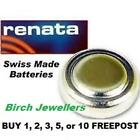RENATA 357 SR44W Swiss Watch Cell Battery Silver Oxide 1.55V New X 1,2,5,10