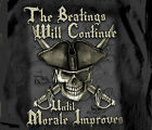 Pirate Beatings will Continue until Morale Improves BLACK Adult T-shirt