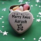 Merry Xmas Aarush Mini Heart Tin Gift Present Happy Christmas Stocking Filler