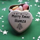 Merry Xmas Humza Mini Heart Tin Gift Present Happy Christmas Stocking Filler