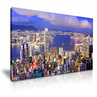 HONG KONG At Night Victoria Harbour Skyline Canvas Framed Print ~ More Size