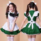 The Restaurant Maid Uniforms Cute Green Maid Outfit Anime Cosplay Costumes Woman