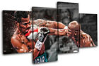 Boxing Floyd Mayweather Sports MULTI CANVAS WALL ART Picture Print VA