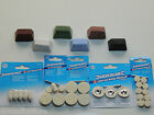 Rotary Tool Buffing Wheels set fits Dremels or Metal Polishing Compounds 1oz Bar