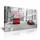 LONDON TAXI LONDON BUS England UK Canvas Framed Print ~ More Size