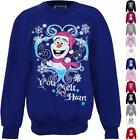 Children's Christmas Festive XMAS Frozen Snowman Olaf Girls Fleece Lined Jumper