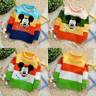 Colorful Mickey Mouse Baby Boys Girls Winter Pullover Coat Knit Sweater 1~4Years