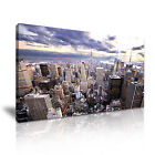 New York CITYSCAPE USA 2 1-21 Canvas Framed Printed Wall Art ~ More Size