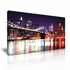New York CITYSCAPE USA 7 1-21 Canvas Framed Printed Wall Art ~ More Size