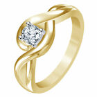 Riva jewels 14K Gold Plated 925 Sterling Silver White CZ Engagement Promise Ring