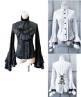 Camicia Donna Manica Lunga Vintage - Woman Shirt Blouse Gothic Long - 541002