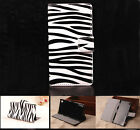 Zebra Luxury Wallet Flip wallet card leather case for SamSung Iphone Nokia G15