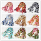 Women Lady Chiffon Floral Long Soft Neck Scarf Shawl Scarves Stole Wraps Fashion
