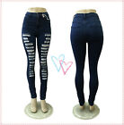 Sexy lady Ripped High Waist Stretch Skinny New Arrived Fashion Style Women jeans