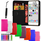 New Leather Wallet Case Cover for Apple iPhone 6 6S 6 Plus 5 5S 4 4S