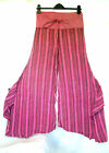 SALE 75 % OFF Pink  FLARED Pants Trousers Hippy Boho Yoga Gypsy XS S FESTIVAL