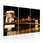 BUDAPEST Chain Brige Hungary Canvas Framed Print ~ 3 Panels