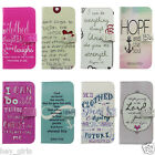 Proverbs31:25 Bible Verse Flip Wallet PU Leather Case for Samsung GalaxyS3 s4 s5