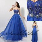 2014 A-Line Long Prom Formal Evening Dresses Girls Beads Chiffon Pageant Gowns