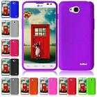 For LG Ultimate 2 L41C Silicone Jelly Skin Cover Case + LCD Screen Protector