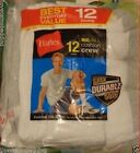 Hanes Men's Big & Tall White Crew Socks, 12-Pack Extended Shoe Size 13-15