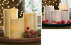 Collections Etc Metallic Holiday Flameless Candle Set