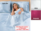 Collections Etc Satin Sheet Set - 4 Piece Set