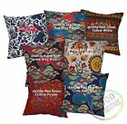 Ah Red Grey Blue Orange Ethnic Soft Cotton Cushion Cover/Pillow Case Custom Size