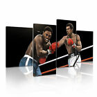 Muhammad Ali vs Joe Frazier Boxing Wall Art Canvas Print Framed Box ~ Many Sizes