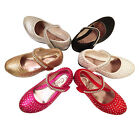 GIRLS SANDALS KIDS WEDDING BRIDESMAID DIAMANTE LOW HEEL PARTY SHOES SIZE 7-3
