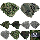 Plain Beanie Camouflage Hat Cap Ski Hunting  Camo Visor Tactical Camping Army