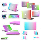 """Rainbow Rubberized Case & Keyboard Cover for Macbook Air 11/13"""" Pro 13/15"""" inch"""