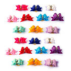 New Wholesale 50 /100pcs Rhinestone Ribbon Cat Dog Hair Bows Grooming Accessories