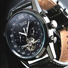 Man's New Black Rose Gold Tourbillon Mechanical Automatic Mens Sport Date Watch