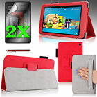 """For 2014 Amazon Kindle Fire HD 6"""" PU Leather Case Cover w/ Stand + Accessories"""