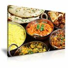 FOOD & DRINK Asia Food Indian Food 4 1L Framed Print Canvas Wall Art~ More Size