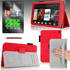 """For 2014 Kindle Fire HD 7"""" PU Leather Case Cover Auto Sleep/Wake + Accessories"""