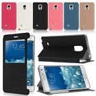 For Samsung Galaxy Note Edge SM-N915 Window view Leather Case Stand Flip Cover