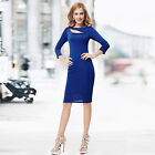 Ever Pretty Sexy Black 3/4 Sleeve Short Party Womens Dress Casual Summer 05117