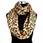 [5 COLORS]Acrylic Warm Thick Knitted Leopard Print Infinity Scarf