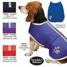 NOREASTER DOG BLANKET COAT Reversible Fleece Winter Pet Rain Jacket Waterproof
